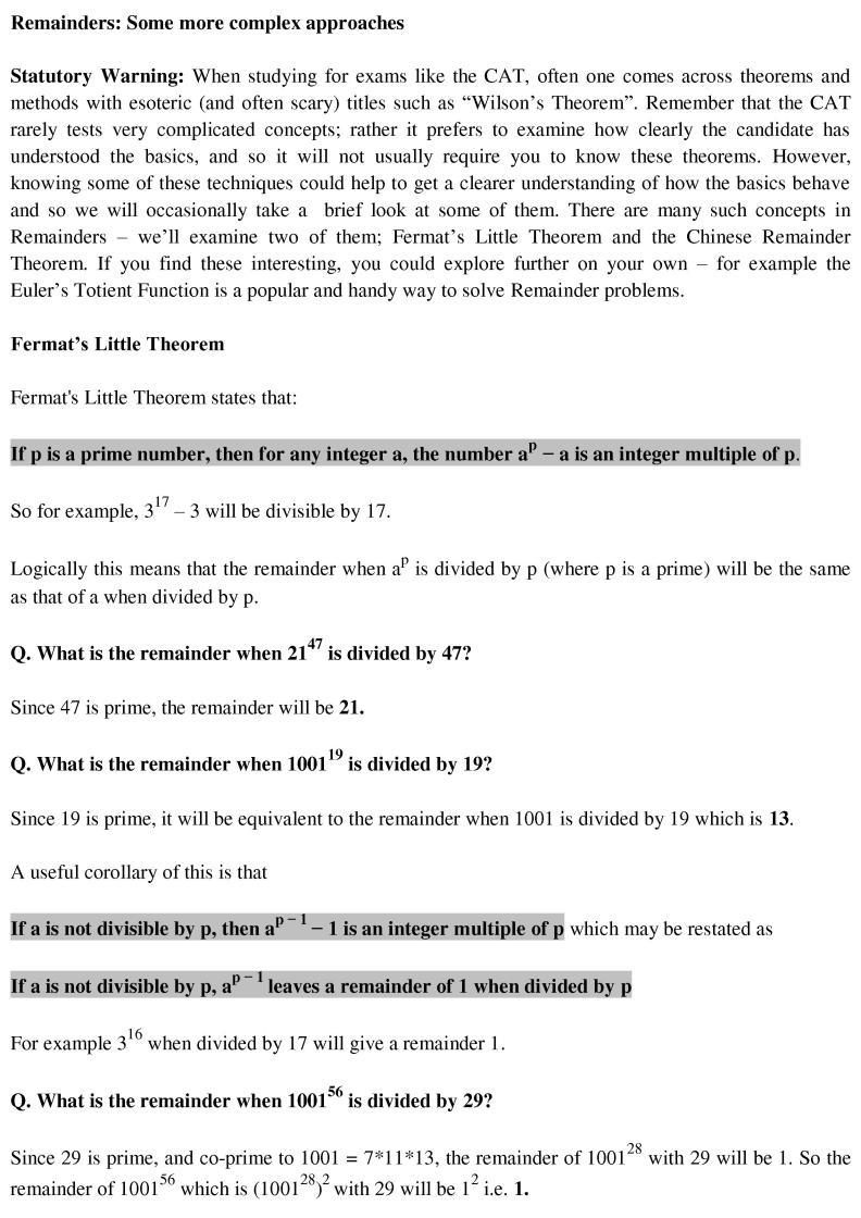 Fermats Little Theorem In Brief Cat Holics