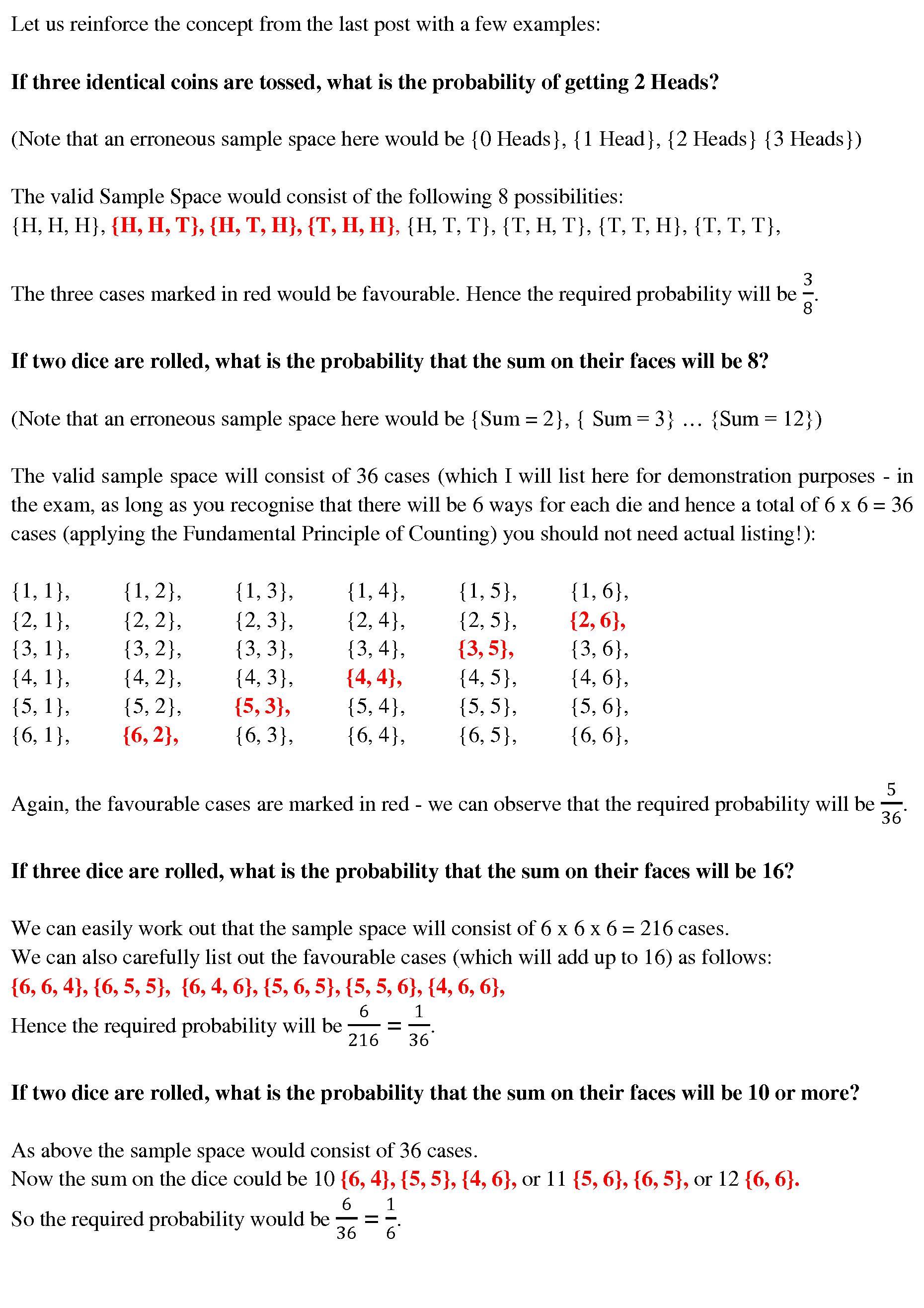 Probability – 4 – CAT-holics